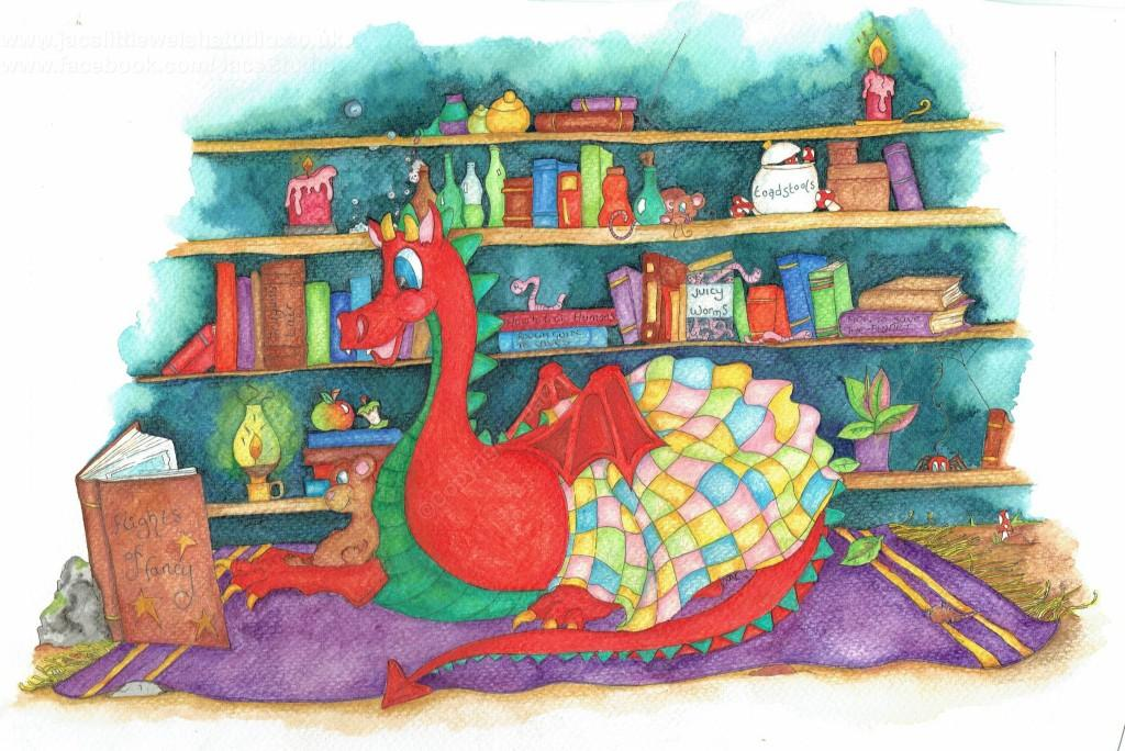 This dragon just loves to escape with a book