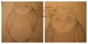 Twit Twoo owl doodle
