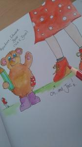 Ted.E.Bear a character created by Jackie Evans, Illustrator